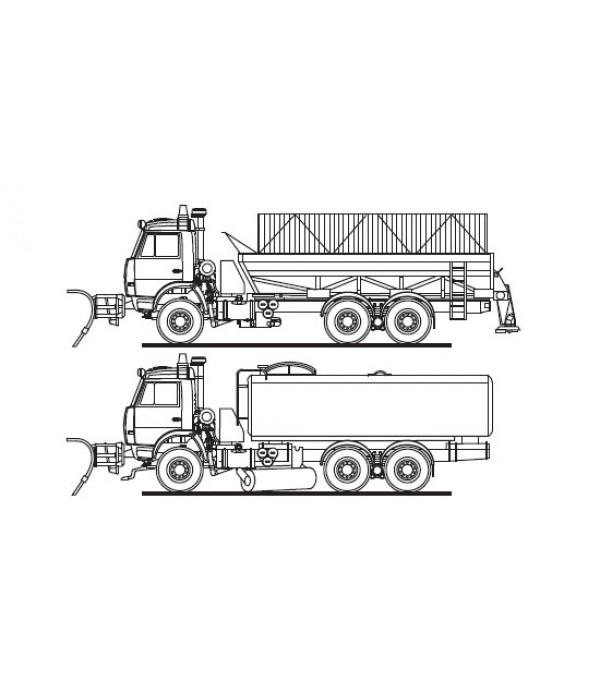 МДКТ01 65115 Машина дорожная комбинированная шасси КАМАЗ 65115